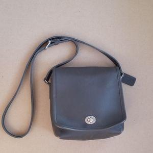 Authentic Coach Grey Leather Crossbody